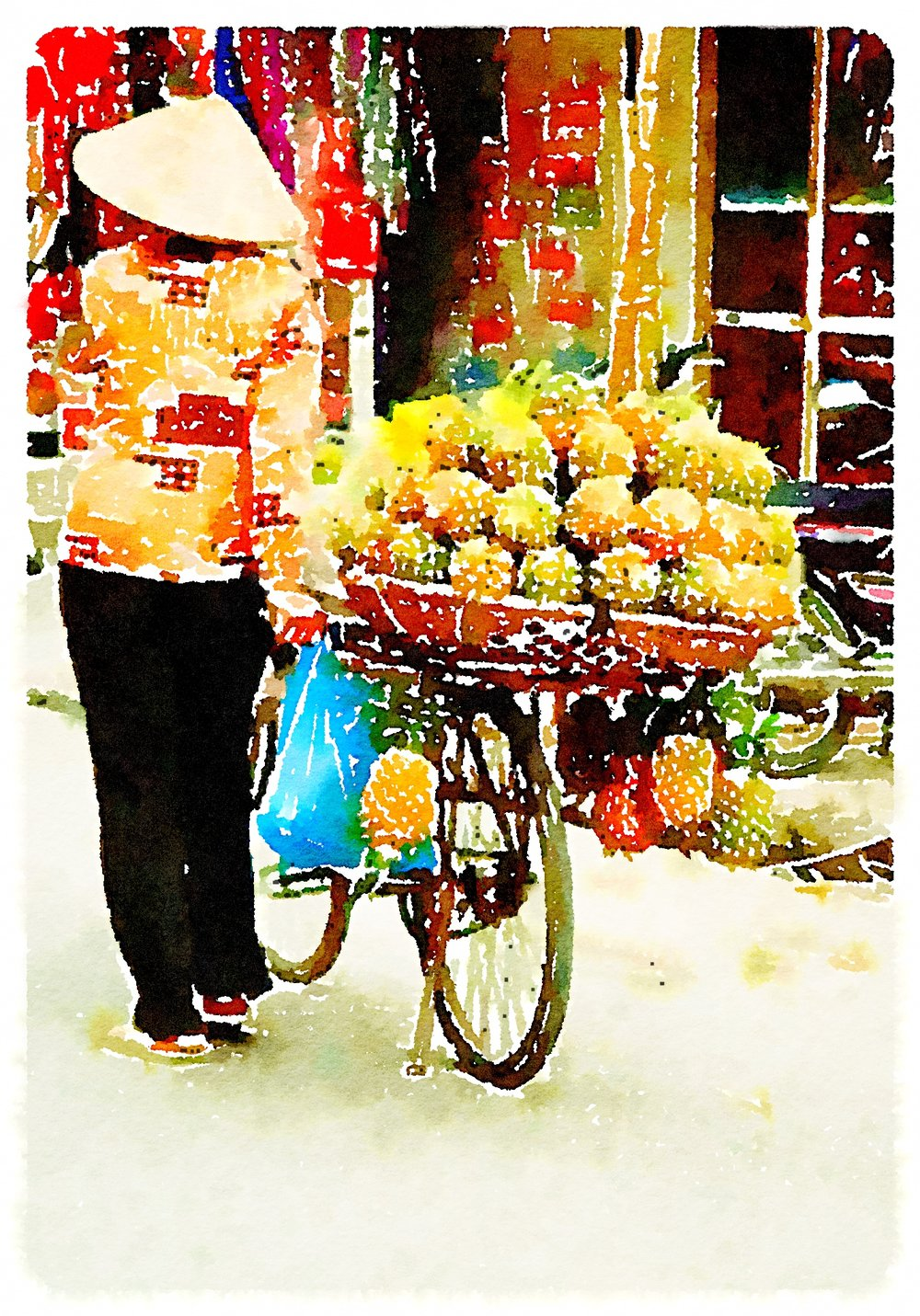 Pineapple Lady In Vietnam Art Print