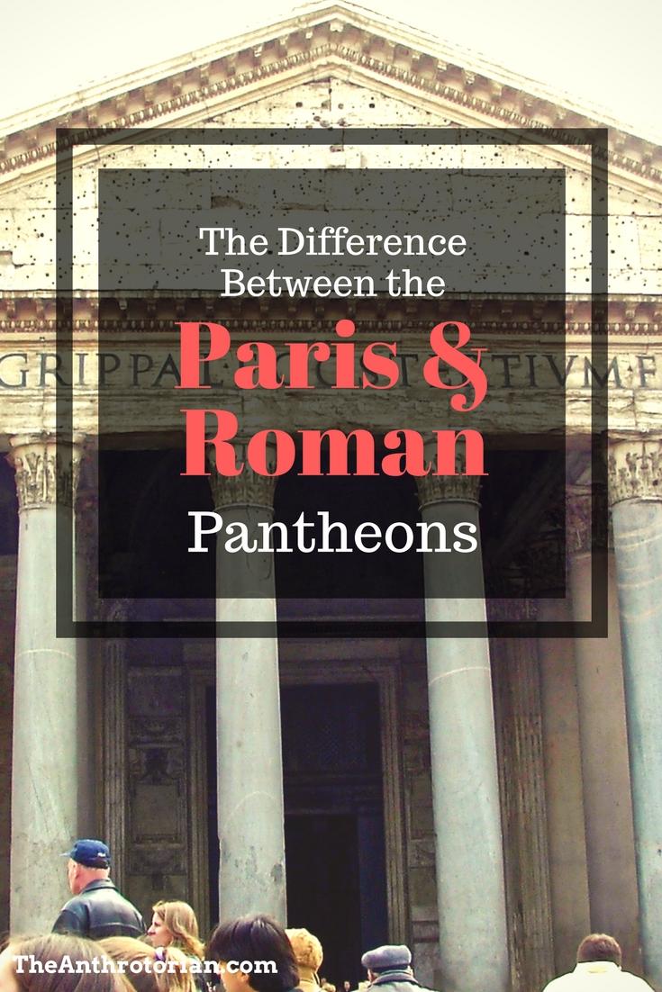 The facade of the Roman Pantheon