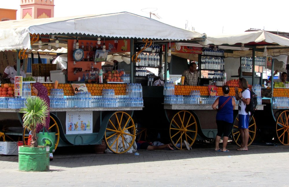 Orange Juice Carts in Marrakesh