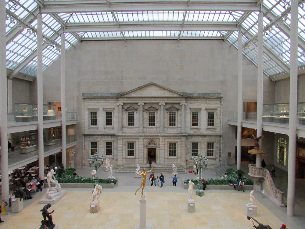 The Met sculpture gallery