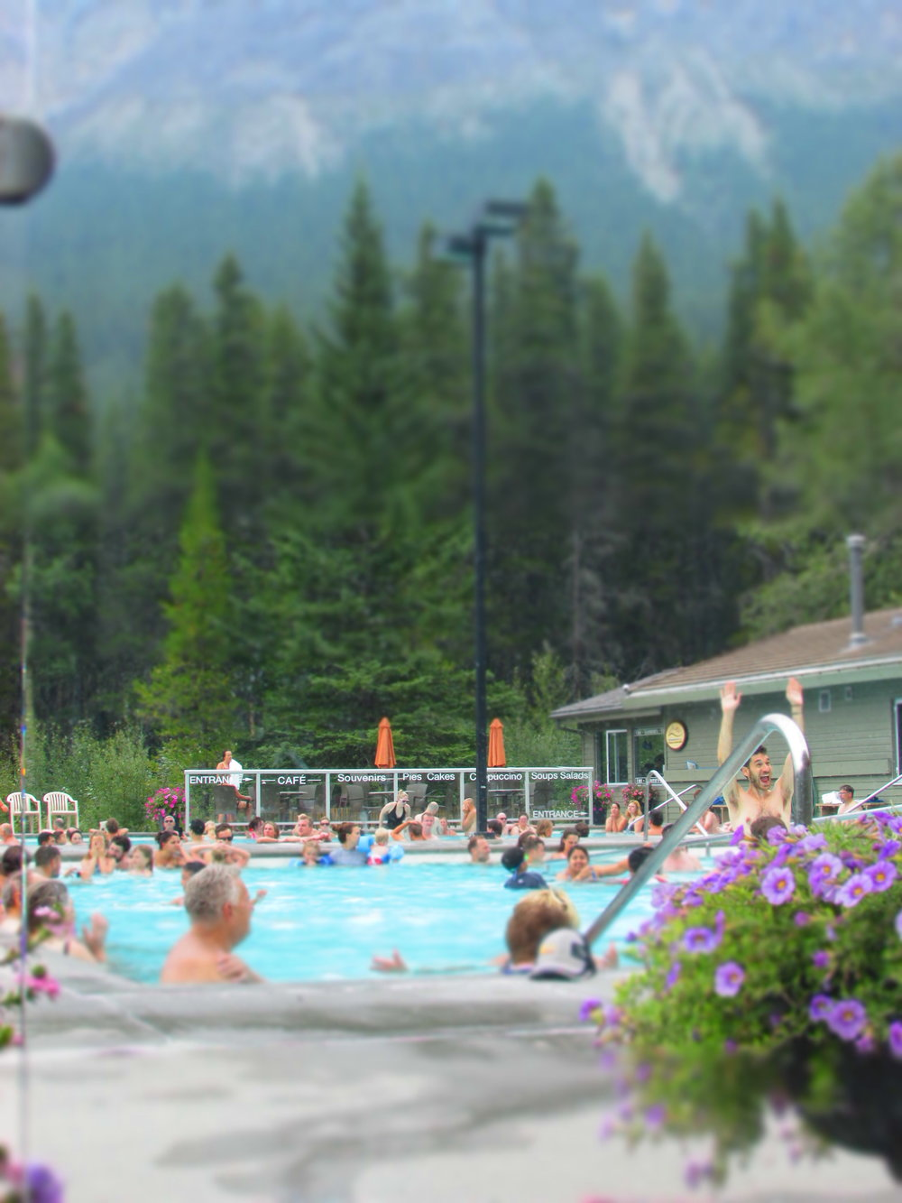 Miette Hot Springs is located at the Sulphur Skyline Trailhead, and is a great place to soak sore muscles after your trek!
