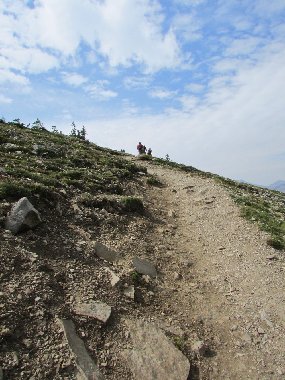 The scramble to the summit is steep and exposed to the elements
