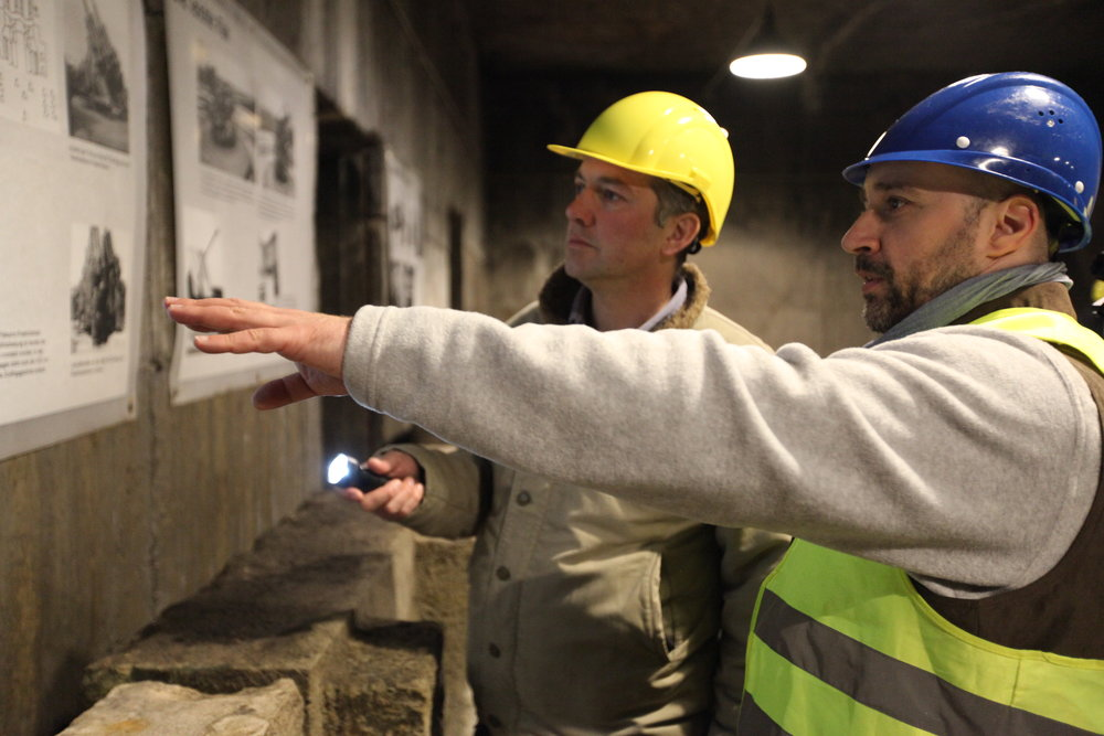 Historian James Holland in a former Nazi Bunker in Berlin.JPG