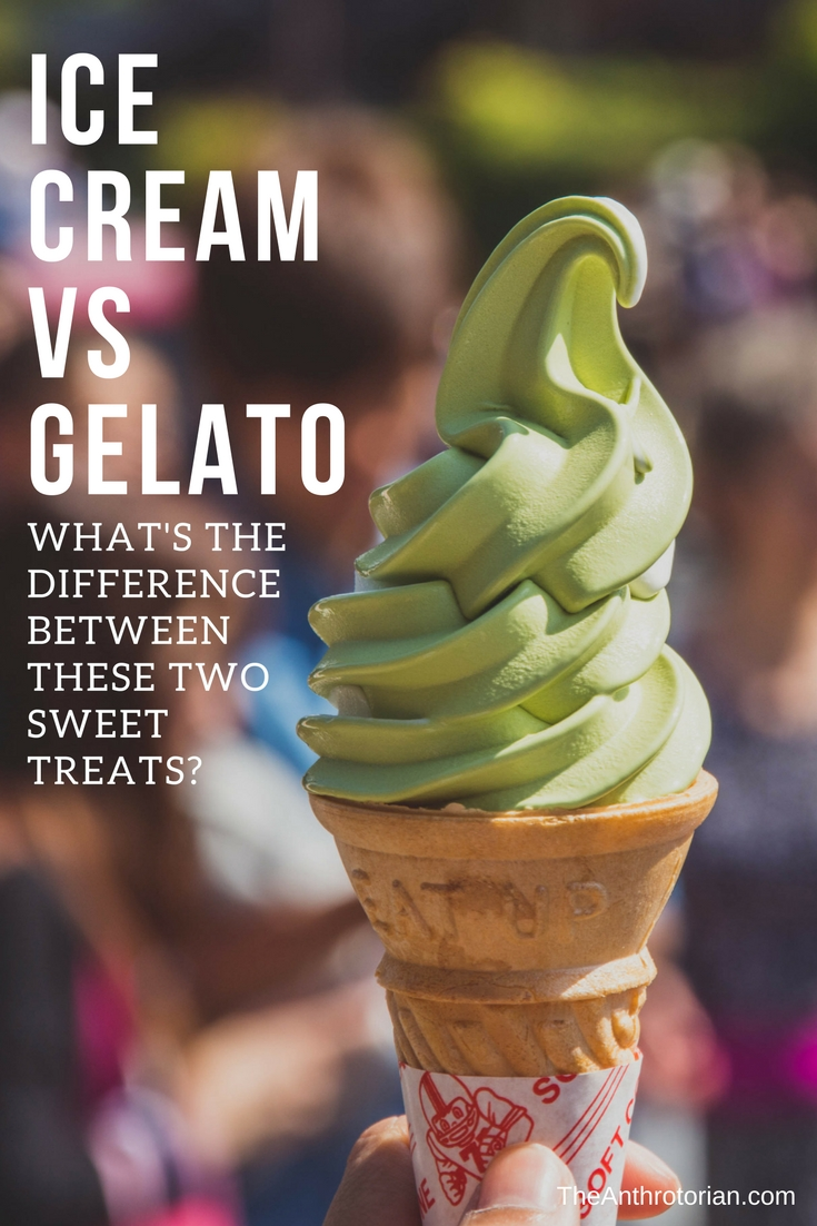 The difference between ice cream and gelato