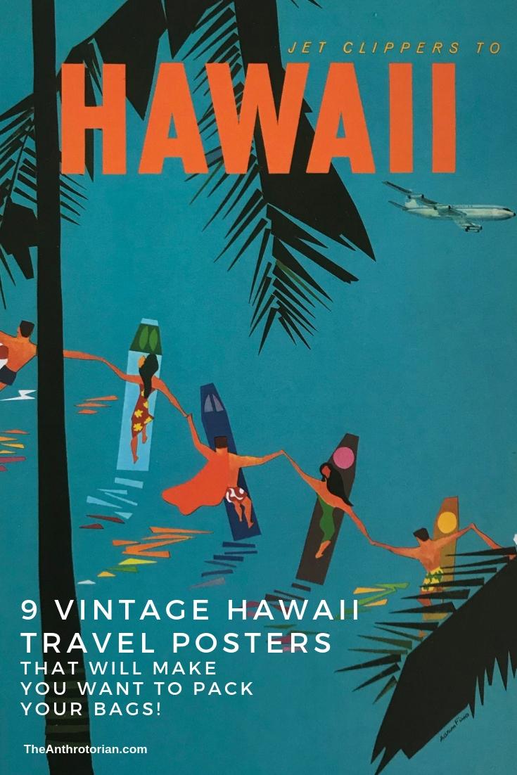 16x24 Hawaii 1960s Classic Vintage Style Hawaiin Travel Poster