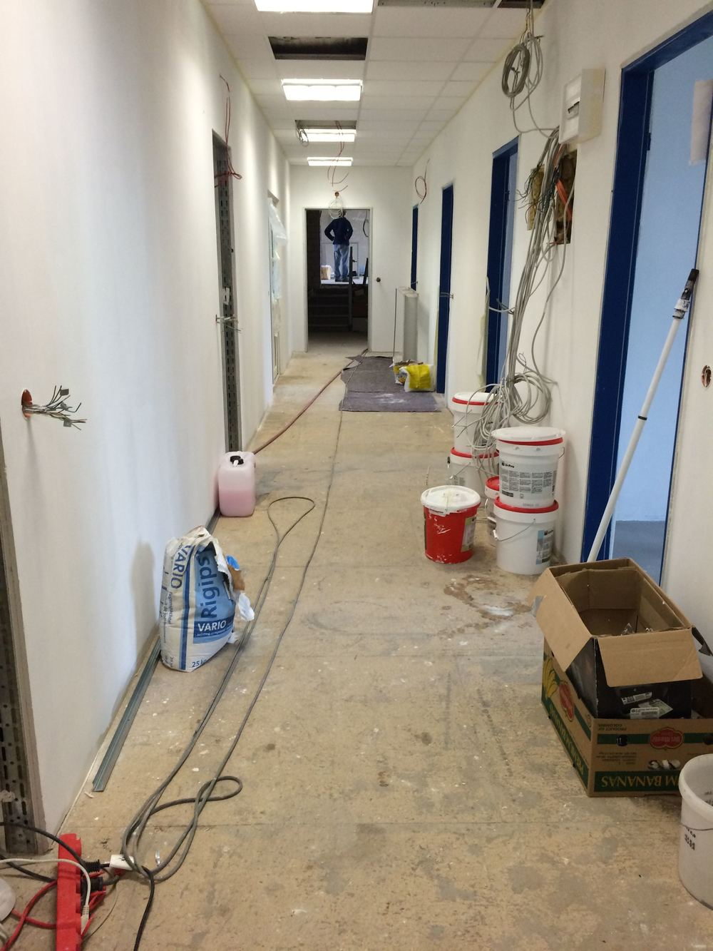 The office hallway