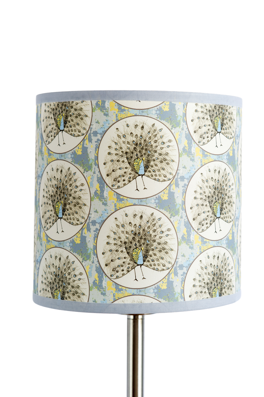 'Spot The Peacock' Light Shade Large Drum