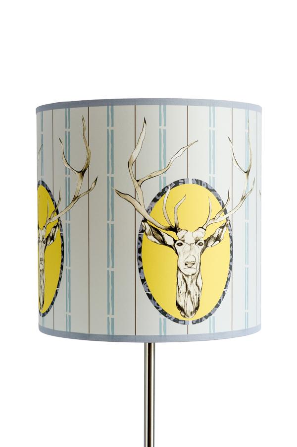 'Stag' Light Shade Large Drum