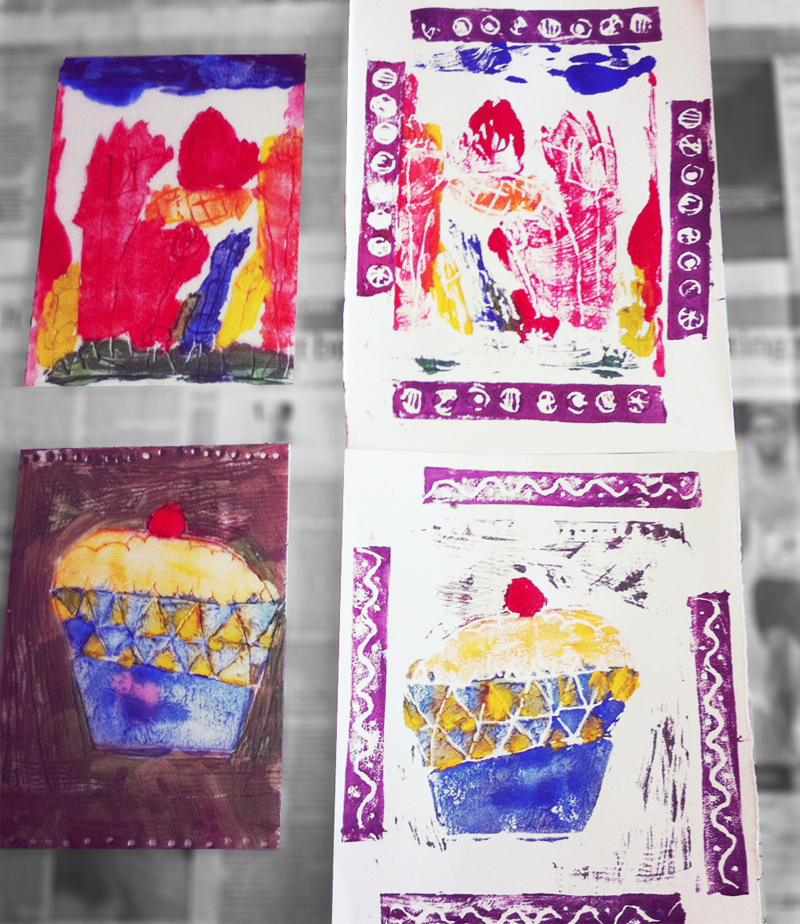 Rum's Eg Workshops Thursday 16 April Block Printing Have fun drawing and creating your own block print. Explore colour, pattern and texture, turning your prints into fabulous greetings cards based on the theme of Spring. Includes squash & biscuits and all materials.  Please bring an apron or old shirt. 10.30am - 12.30pm £8 per child  age 5+