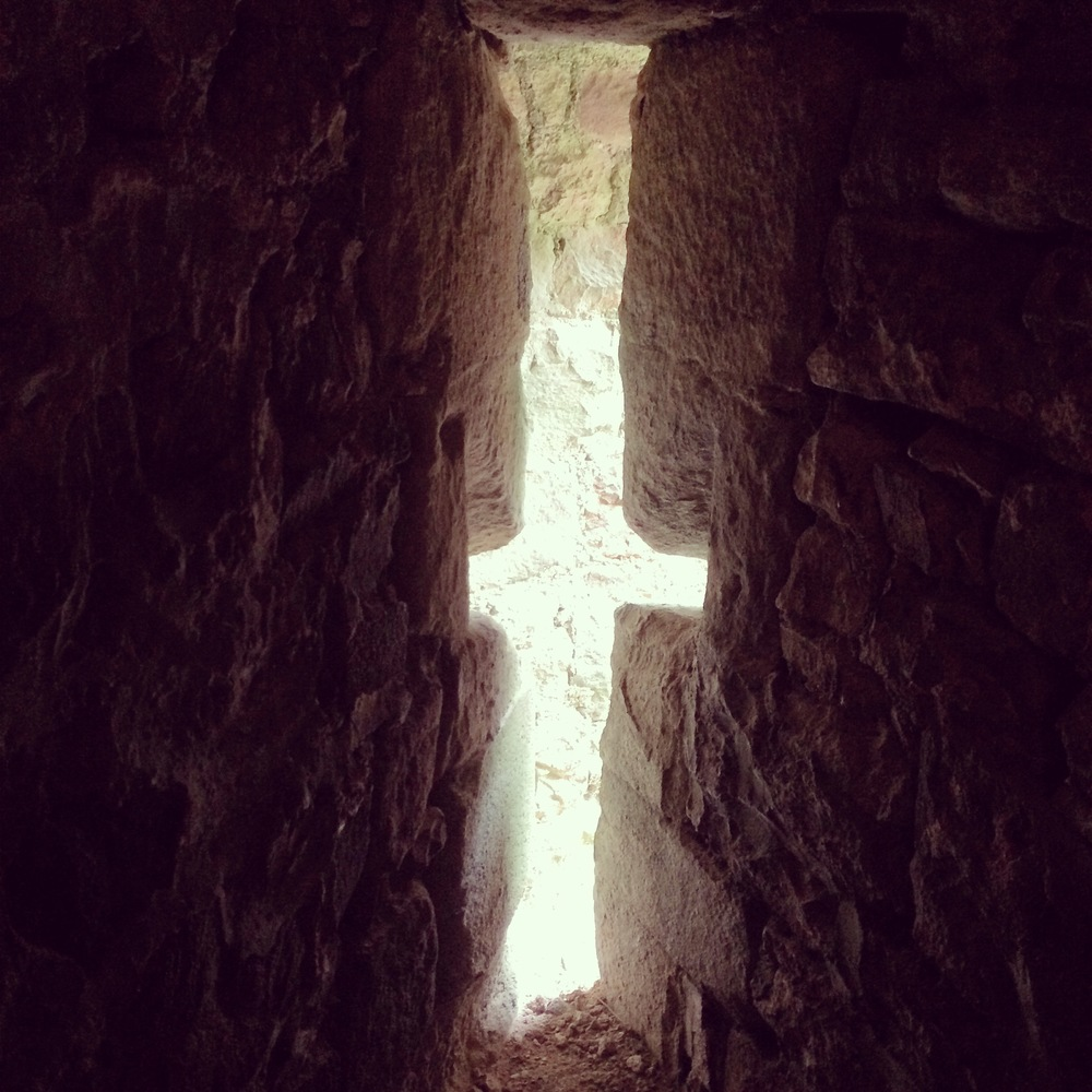 Going through photographs I've taken, and found one from a visit to Dunster Castle, Somerset, October 2014. Drawn to the shaft of light permeating through the window. #light #hope #cross