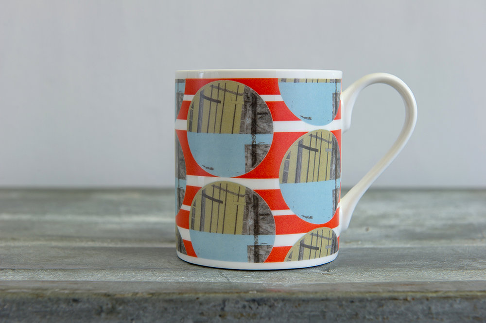 Structural Circles Bone China Mug