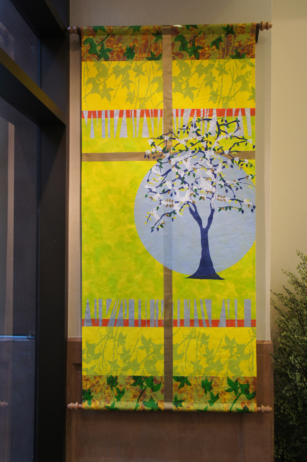Two site specific banners for a hospital chapliancy in Los Angeles.