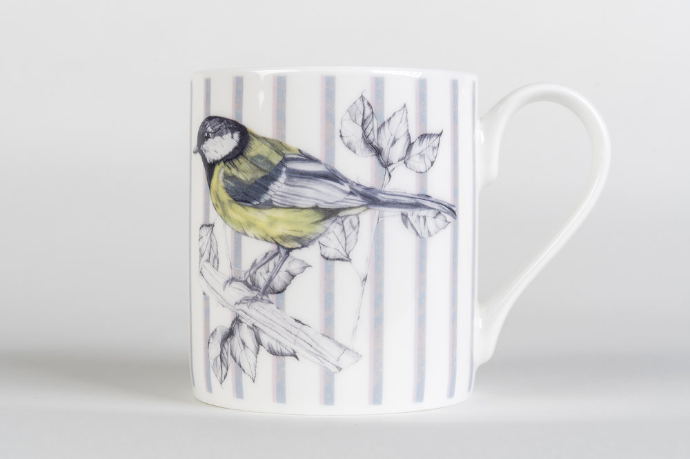 Great Tit Bone China Mug