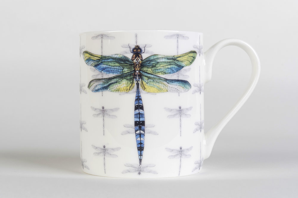 Dragonfly Bone China Mug