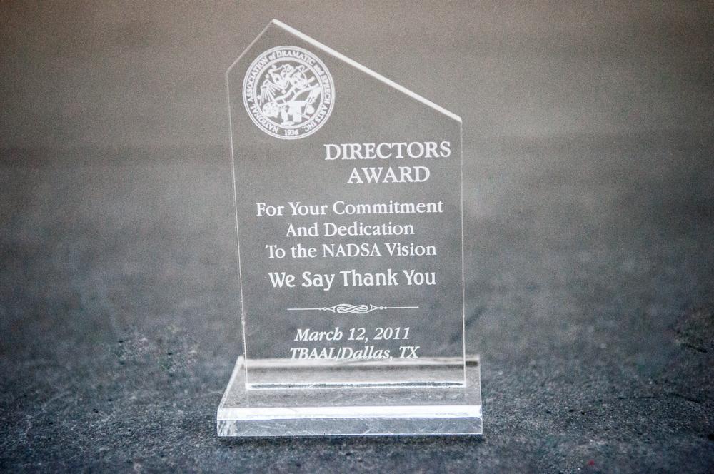 """""""NASDA- Director's Award"""" - 1I"""