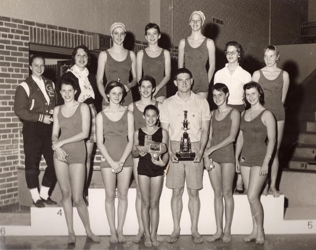 1958 Girls winning team at Tulsa, OK