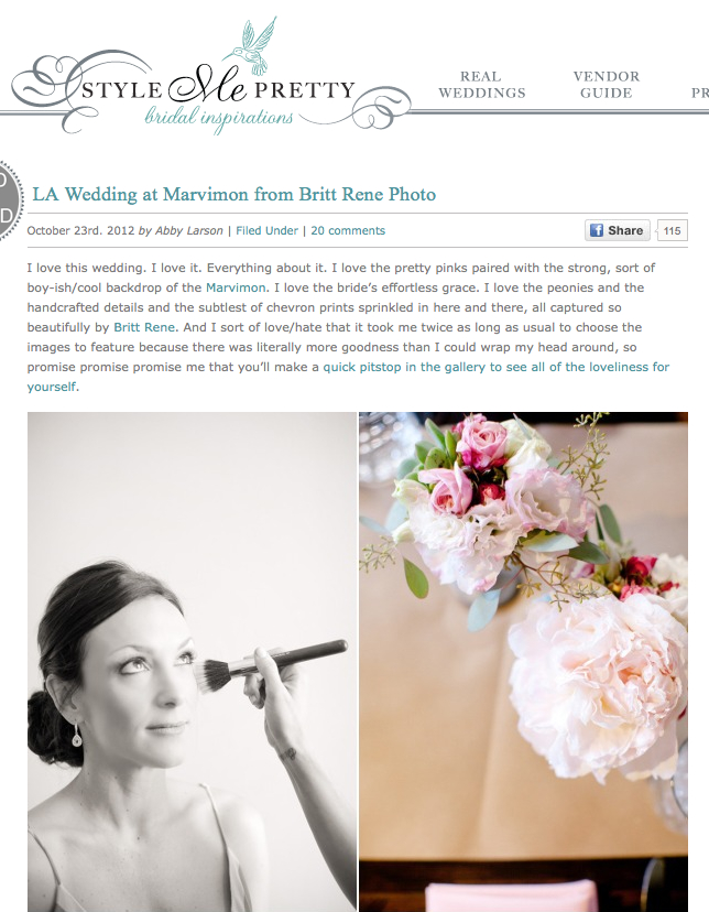 Wedding Feature on Style Me Pretty