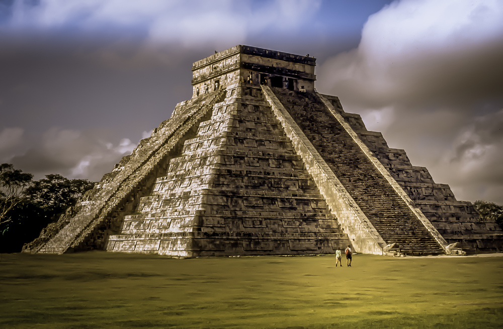 El Castillo or the Temple of Kukulkan, is the famous centerpiece of Chichen Itza