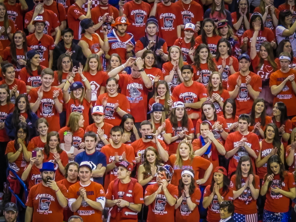 Go Zags! The Kennel Club cheering them on… every face an incredible expression!