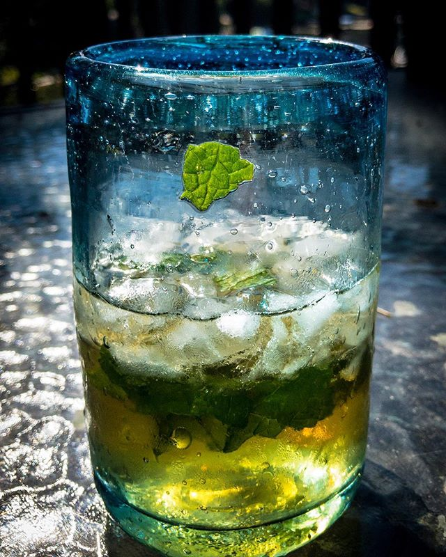 Taming that rebel mint leaf in my Mojito! #mojito #summer #cocktail #MARTYhiester #drinks #drink #cocktails #party #happy #mint #rum #sun #fun #relax #yummy #lime #alcohol #holiday #amazing #mojitos #libertylake #weekend #summertime #sunset #holidays