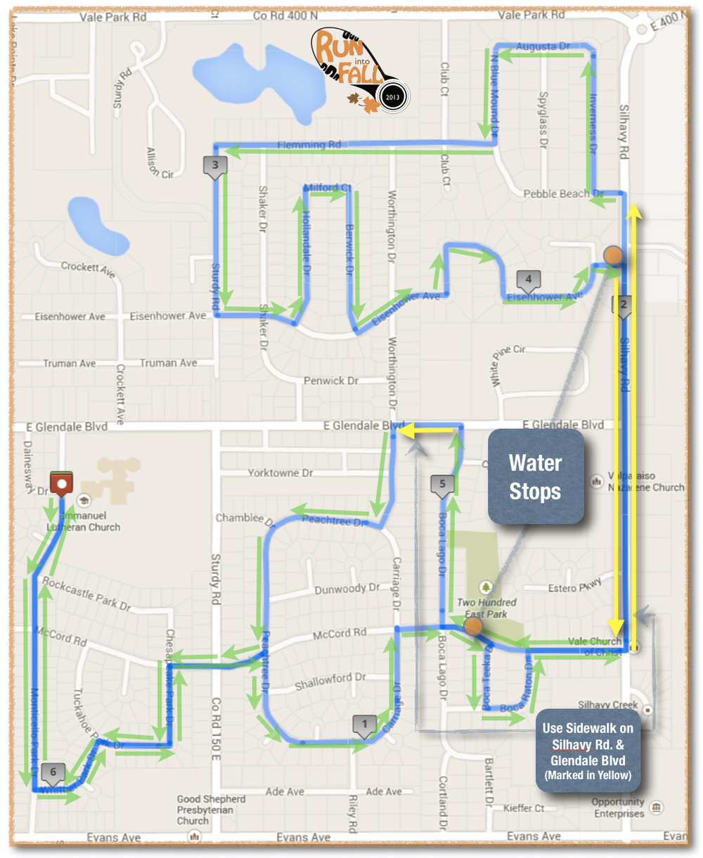2013 10k Course Map