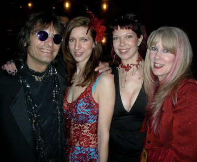 Dennis, Renee, Chelsea, and Cindy Dunaway at the Rock and Roll Hall of Fame induction ceremony, 2011.