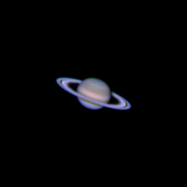 An image of Saturn processed from video taken through an iPhone in February 2014. (ART COLE)