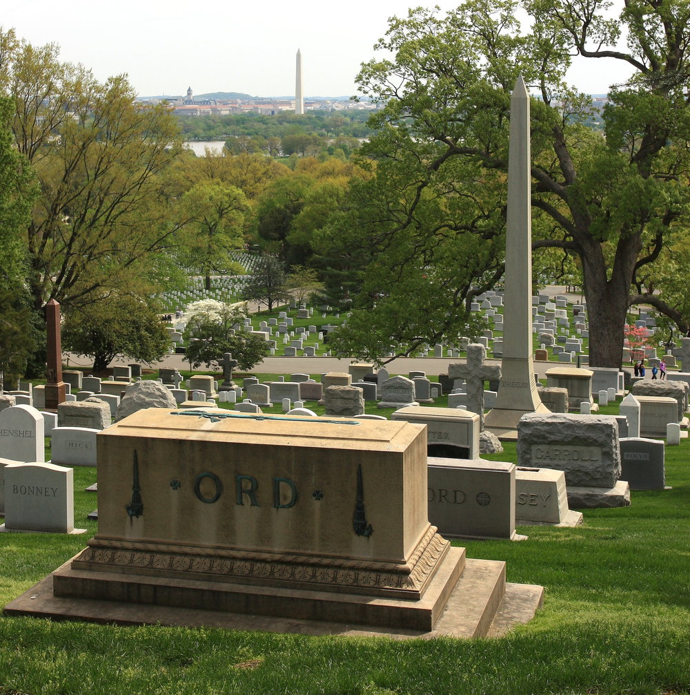 Arlington Cemetery with Washington Monument in the background (JOHN McPHEE)