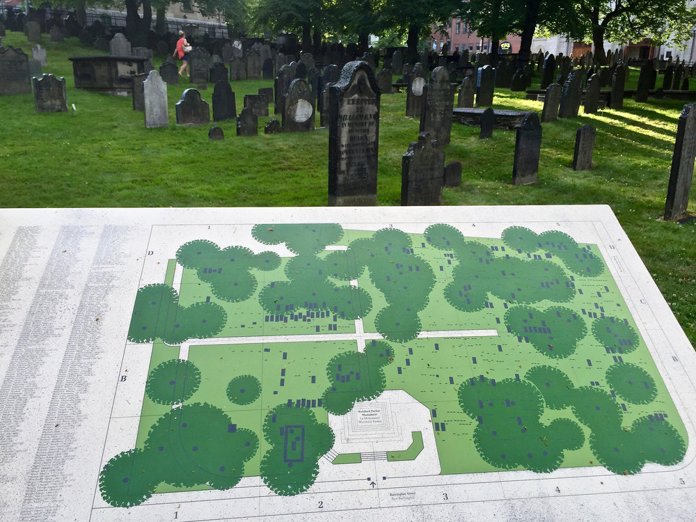 The Old Burying Ground is a popular destination for those seeking genealogical and historical information. About 8,000 people visit the site each year. (JOHN McPHEE)
