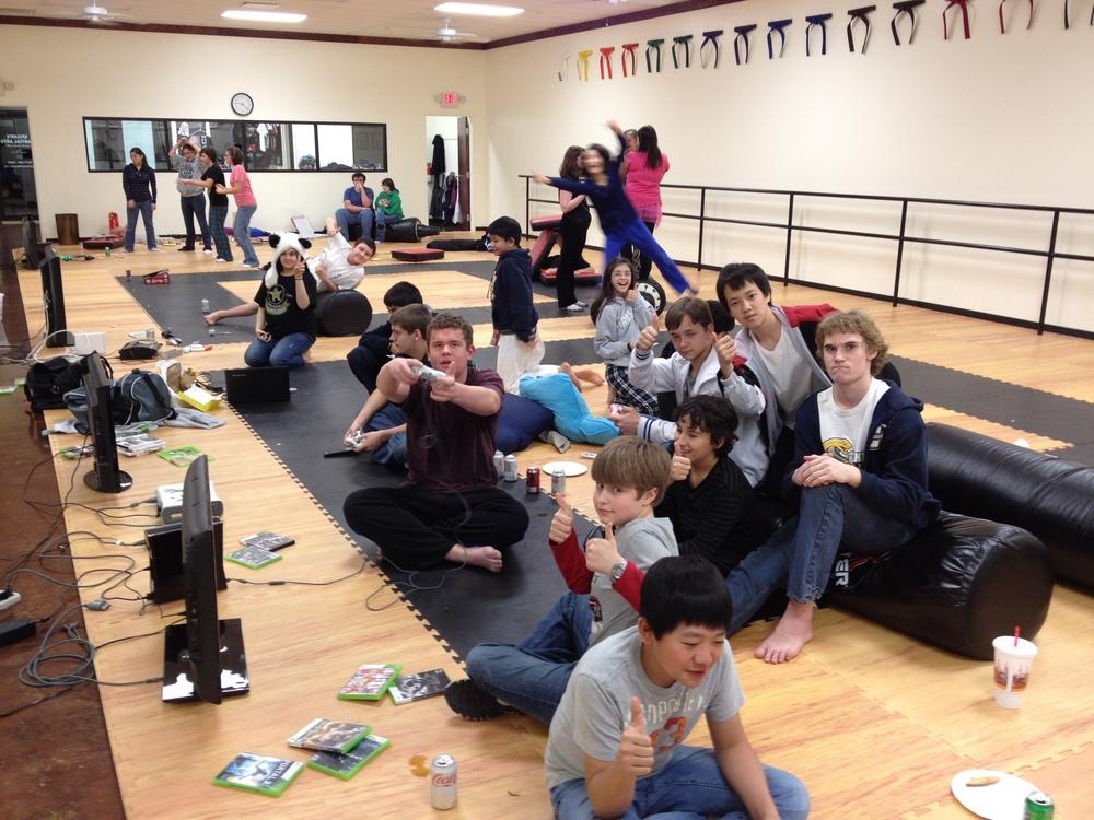 Southlake's karate teens going wild.
