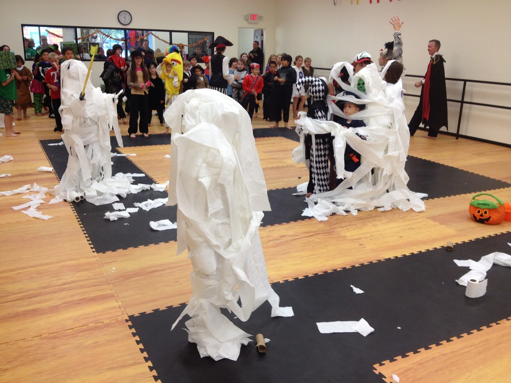 Toilet paper mummies!