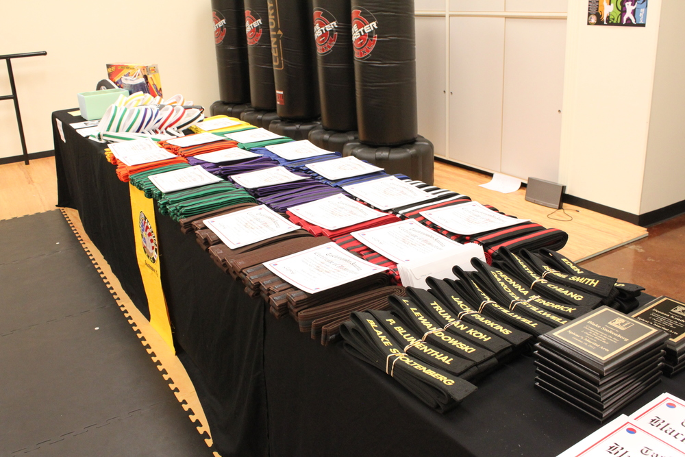 Karate belts are ready to find their new owners... ;-)