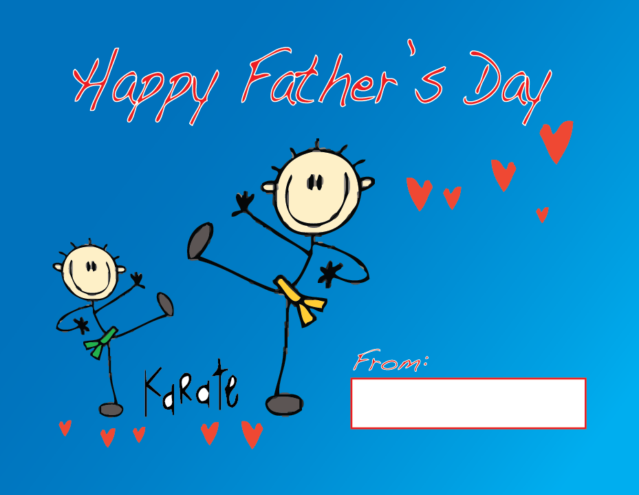 Martial Arts Father's Day postcard Front.png