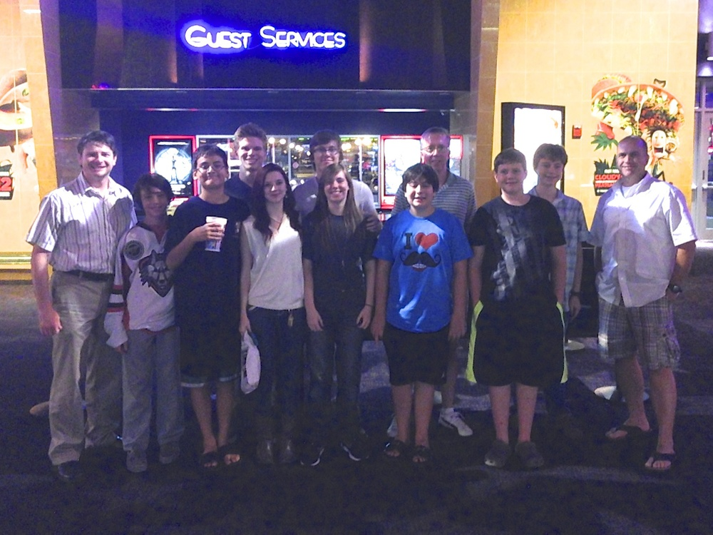 Our students and friends at the movies.