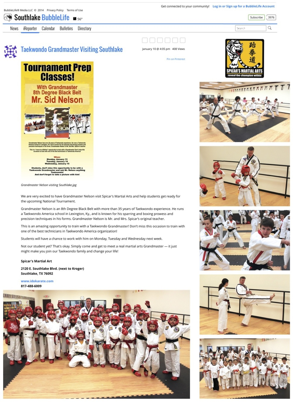 Southlake Bubble Life 2014 Grandmaster Article Internet.jpg