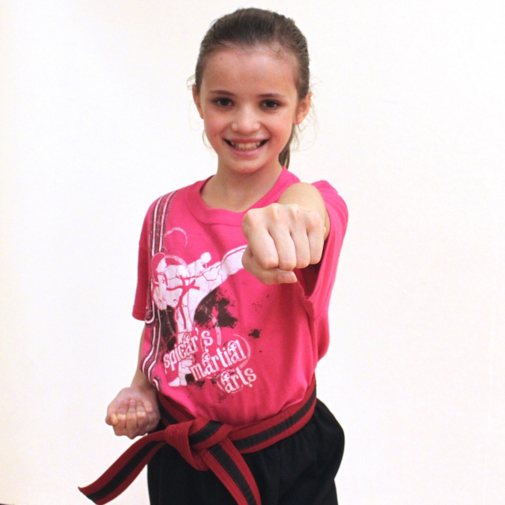 Mikayla is a talented young martial artist.