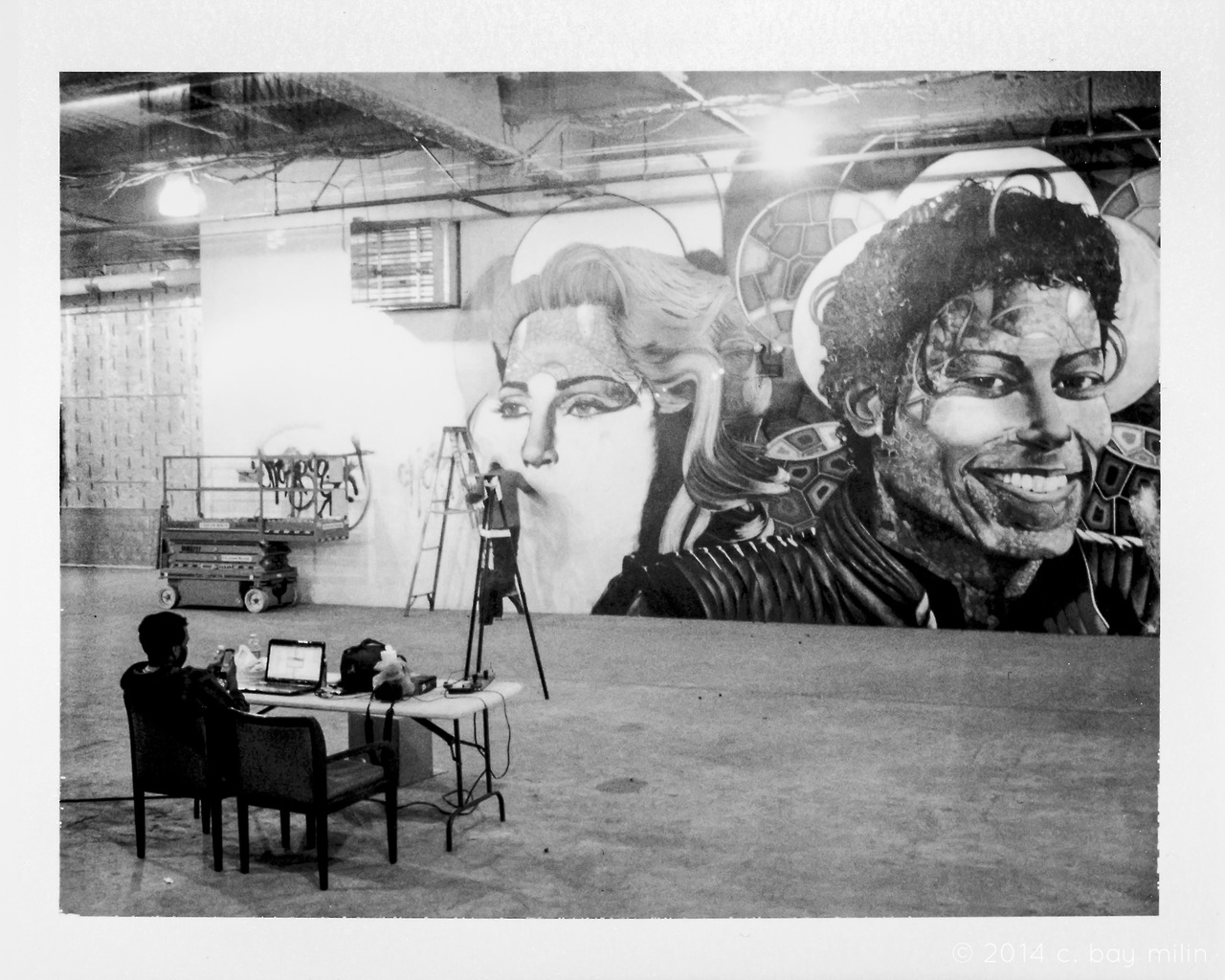 —-   in my opinion, there can never be too many michael jackson/madonna tandem murals in the world.   —-