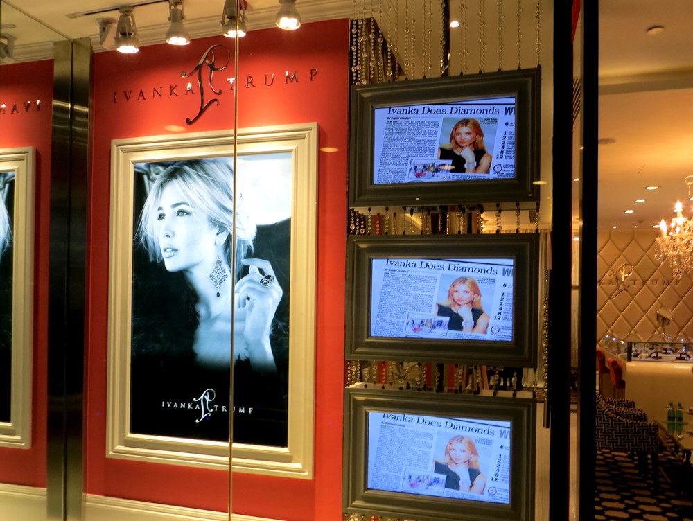 So is Ivanka Trump Jewelry, currently the only branch in all of China