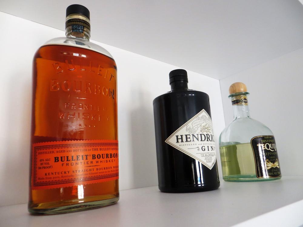 IDO CABINET   custom-made libations shelf and cabinets