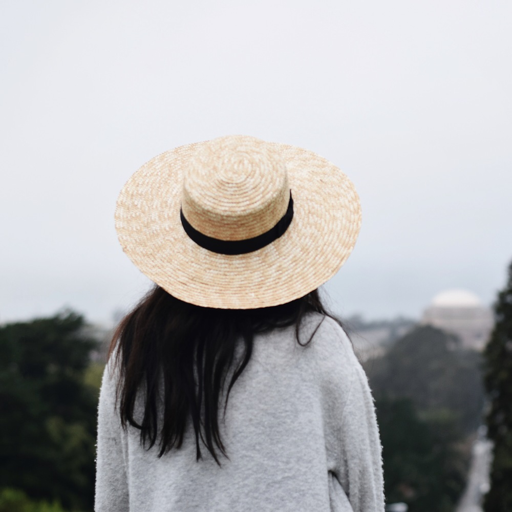 FREE PEOPLE   straw brim hat