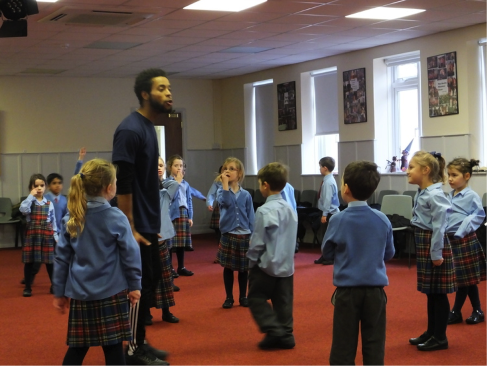 Lingfield School's workshop with Michael Duke