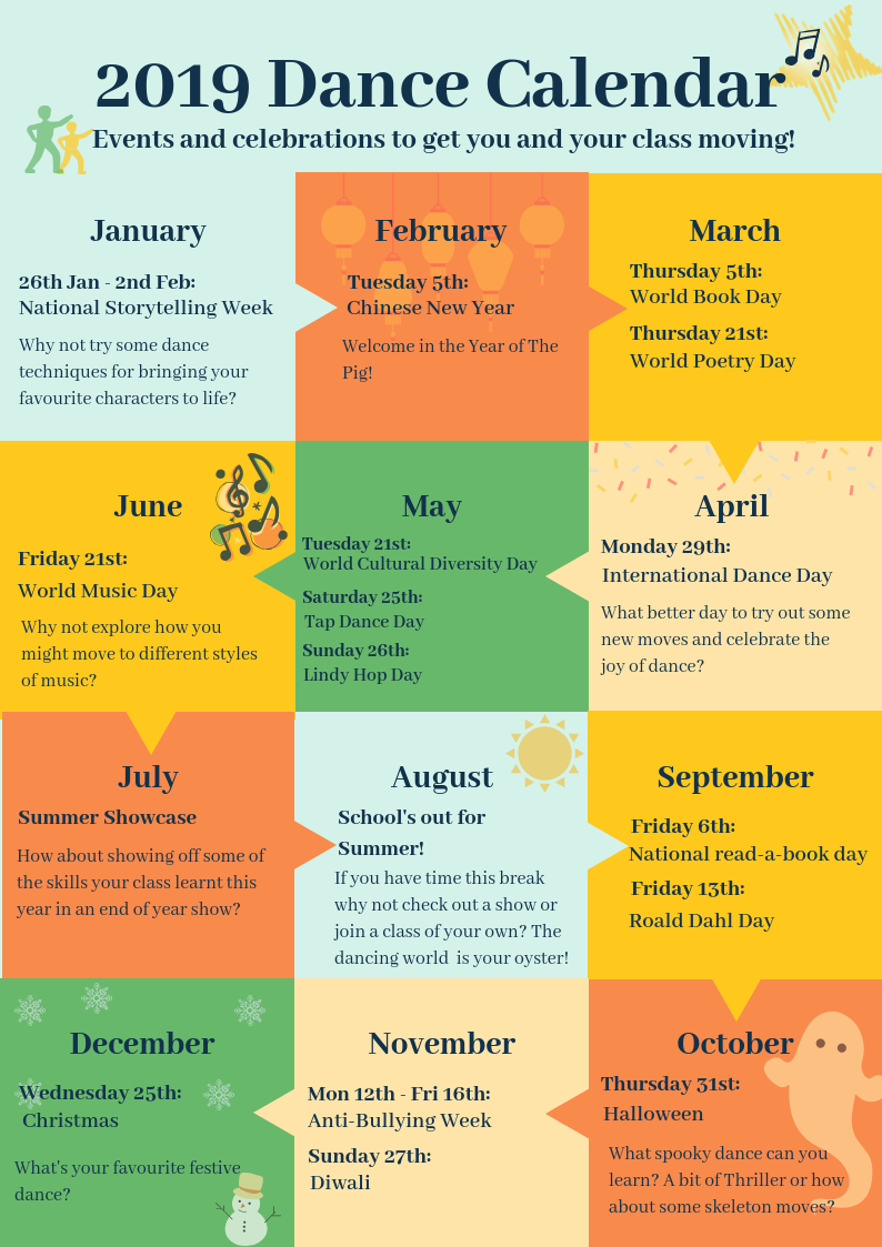 2019 School Dance Calendar