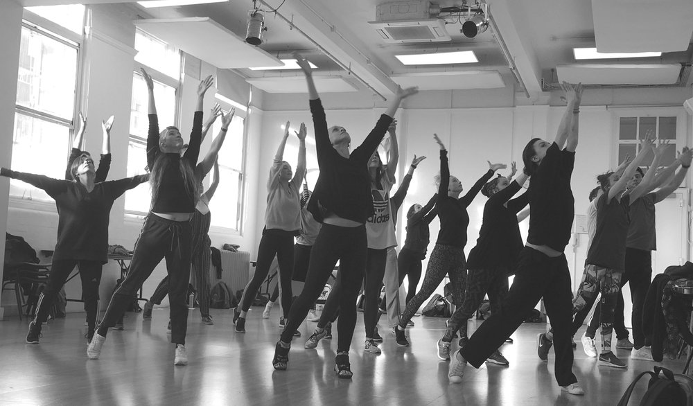 Our choreographers in training - we love an action shot!