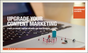 Upgrade your content marketing - ebook