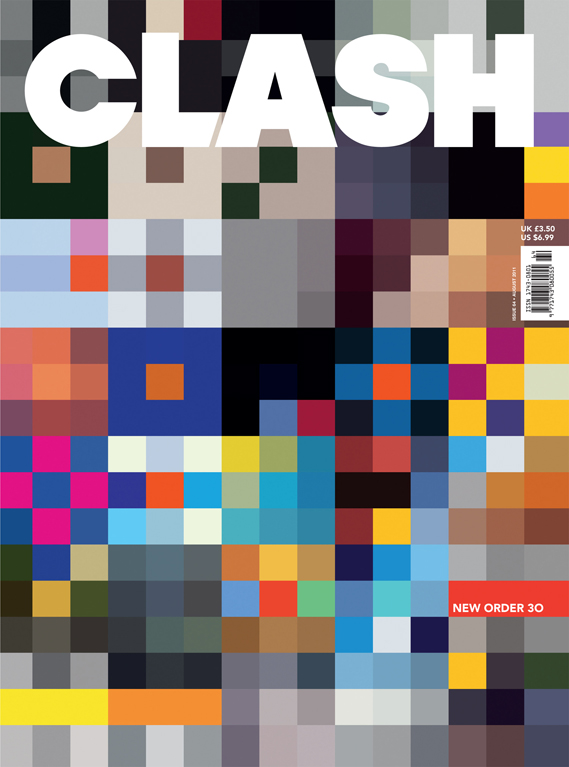 New Order - Clash Magazine cover. Designed by Howard Wakefield.
