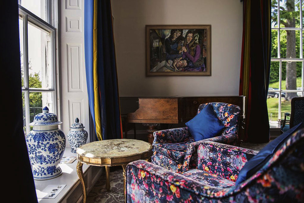 Fierce Beauty velvet upholstery in the Manor House lounge