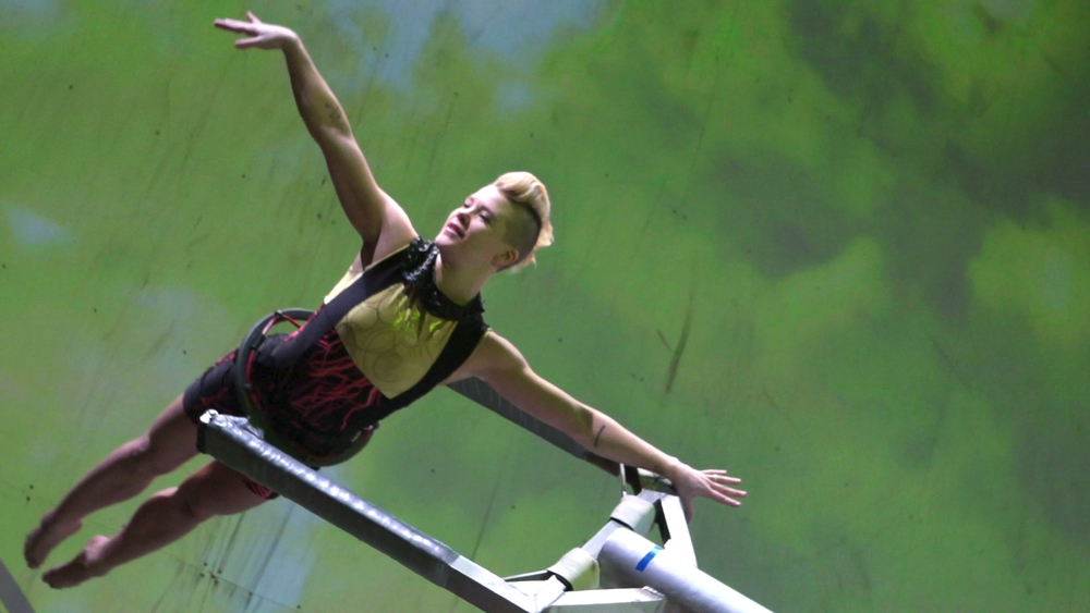 "Jackie Carlson performing ""Fly,"" in FORCES 2012."