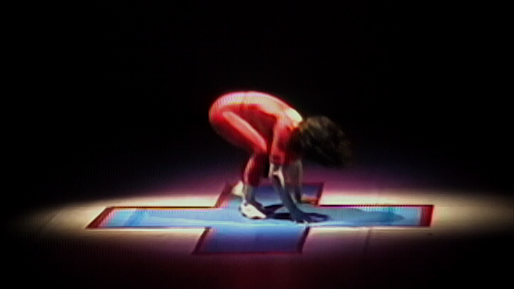 "Elizabeth Streb performing ""ADD."""