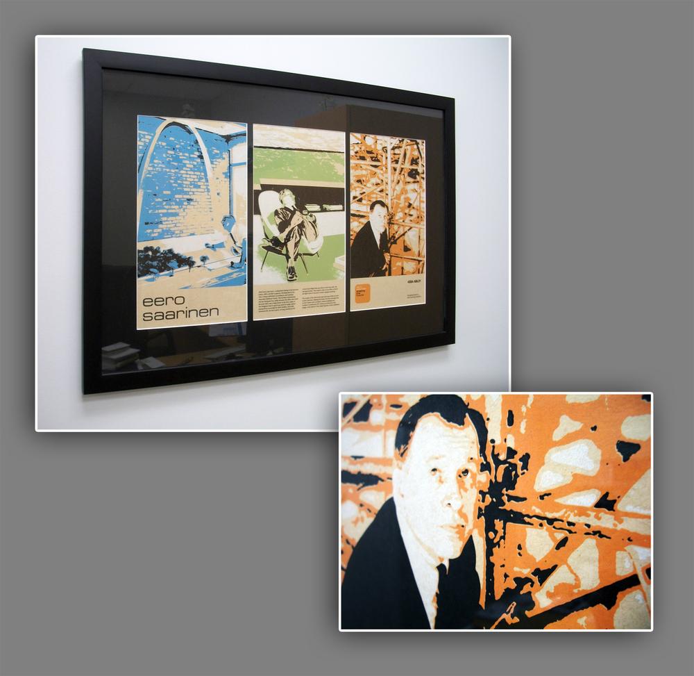 Eero Saarinen commemorative screen print