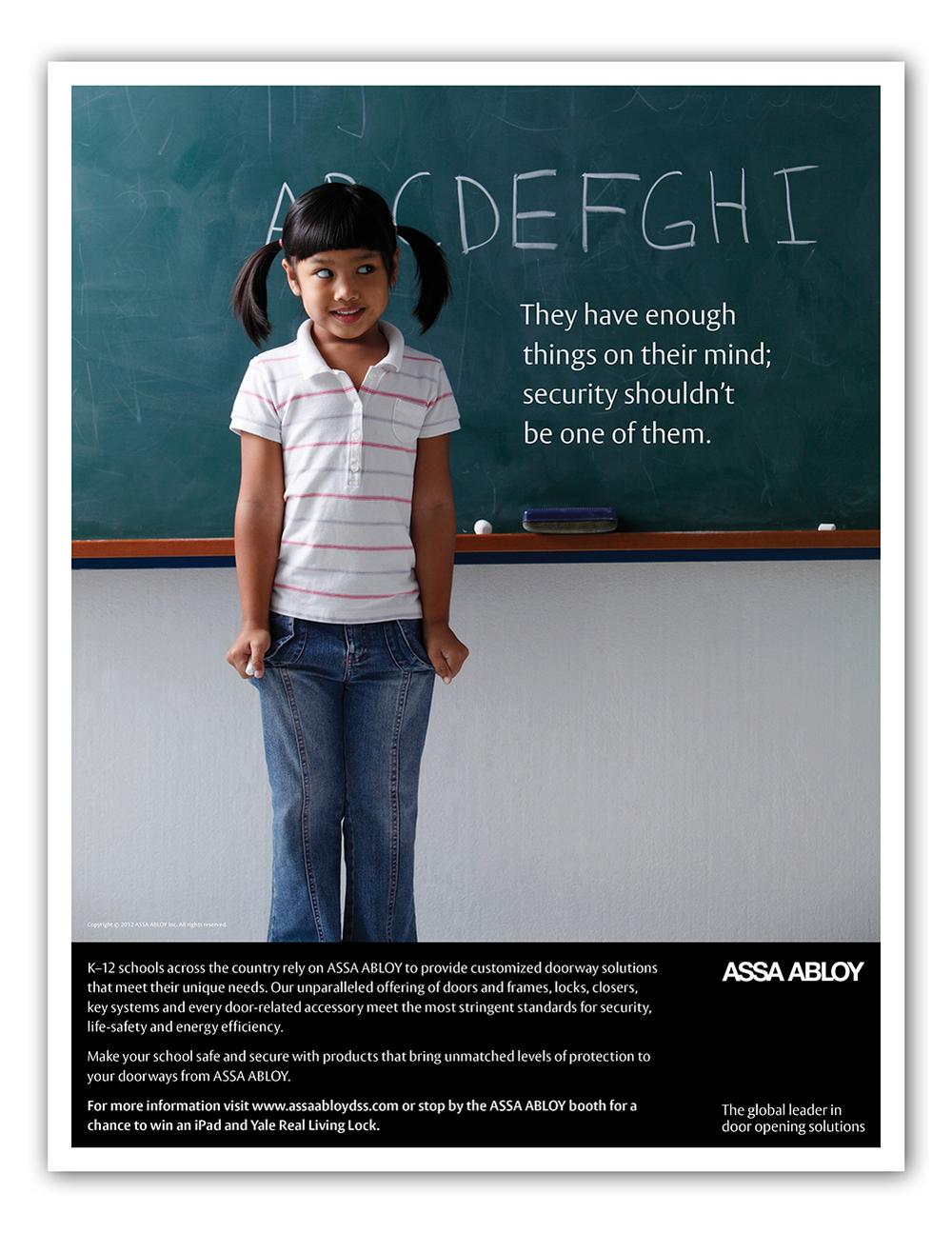 ASSA ABLOY K-12 advertisement